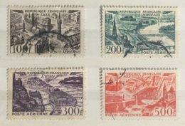 Timbre France Poste Aérienne YT PA 24 25 26 27 (°) 1949 Lille Bordeaux Lyon Marseille (côte 21,5 Euros) – 316b - Poste Aérienne