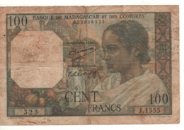 MADAGASCAR  100 Francs      P46a   (ND 1950-1951) - Madagascar