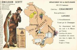 CPA Emulsion SCOTT Haute Marne - Landkaarten