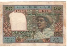 MADAGASCAR  50 Francs      P61  (ND 1969) - Madagascar