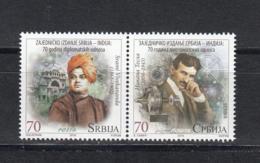 Serbia Serbien MNH** 2018 Tesla Vievekananda Joint Issue India  S 867-868 - Serbien