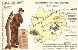 CPA Emulsion SCOTT Lot Et Garonne - Landkaarten