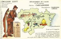 CPA Emulsion SCOTT Aude - Landkaarten