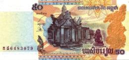 Banconota CAMBOGIA   DA  5O   RIELS  - Anno  2002. - Cambogia