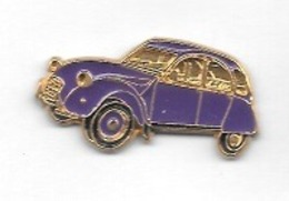 Pin' S  Automobile  CITROËN  2  CV  Violette - Citroën