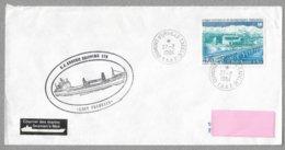 """15 - TAAF PA 80 Du 27.2.1984 TERRE ADELIE - Le """" LADY FRANKLIN """" étiquette """" Courrier Des Marins/Seamen's Mail - Lettres & Documents"""