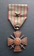 Médaille  CROIX DE GUERRE 1914-1918 - Une étoile - France