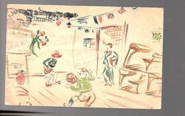 HANDPAINTED Celebration Card Van Der Maarel Vreeswijkstraat Den Haag (FK-19) - 1891-1948 (Wilhelmine)