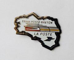 Pin's Carte De Bretagne Train Poste Breton LA POSTE  - CBJ - Poste