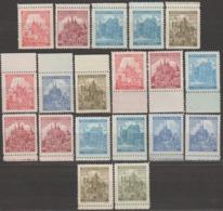 4/ Bohemia & Moravia; ** Nr. 57 - 61, Border Stamps - Base Colors - Bohême & Moravie