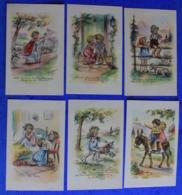 Superbe Série Complète De 12 Images Pieuses De Germaine Bouret , Fin Des Années 40 - Bouret, Germaine