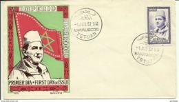 "Maroc Espagnol ; Zona Norte; FDC 1957;"" Mohamed V "" Morocco,Marruecos - Marokko (1956-...)"