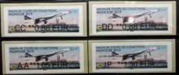 4 Atms, Brother, AA, CC, DD, IP, 50 Ans, De L'aventure Concorde, MULHOUSE 2019, SALON TOUTES COLLECTIONS - 2010-... Abgebildete Automatenmarke