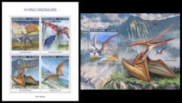 SIERRA LEONE 2019 - Pterosaurs. M/S + S/S Official Issue [SL190802] - Préhistoriques