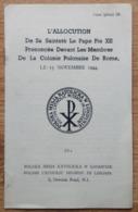 L'ALLOCUTION DE LE PAPE PIE XII POLSKA MISJA KATOLICKA LONDRE 1944 - Livres, BD, Revues