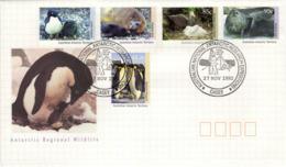 AAT Australian Antartic Territory Poste 90 à 94 FDC 1er Jour Phoque Seal Manchot Antarktis Antarctique Pôle Sud 1 - Unused Stamps