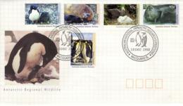 AAT Australian Antartic Territory Poste 90 à 94 FDC 1er Jour Phoque Seal Manchot Antarktis Antarctique Pôle Sud 2 - Unused Stamps