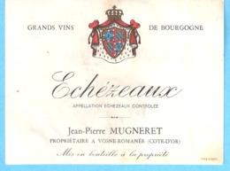Etiquette-Vin De Bourgogne-Echézeaux-Jean-Pierre Mugneret à Vosne-Romanée (Côte D'Or) - Bourgogne