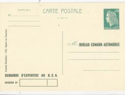 France: Entier Carte -  Marianne De Cheffer - Type A5b Modele 86 - Neuf  - Bureau Commun Automobile- Cote 25€ - Entiers Postaux