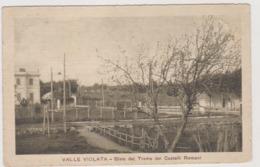 Valle Violata Grottaferrata (RM), Bivio Dei Trams Dei Castelli Romani  - F.p. - Anni '1910 - Altre Città