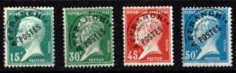 FRANCE PREOBLITERES PASTEUR N° 65/68 SANS GOMME COTE 48.50 EUROS - 1893-1947