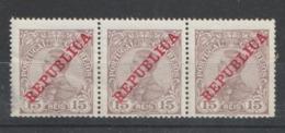 PORTUGAL CE AFINSA 173 - TIRA COM 3 SELOS NOVOS - 1910 : D.Manuel II
