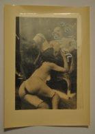 Photographie 1 Femme Et 1 Homme Scene Pornographique Fellation  Retirage Plaque De Verre Sexe - Non Classés