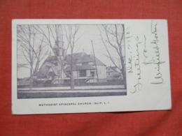 As  Is  Paper Peel On Back       Methodist Church Islip   New York > Long Island > Ref 3676 - Long Island