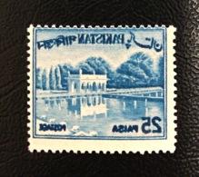 Pakistan 1963 Definitive 25p Redrawn Shalimar Garden OFFSET Error Litho On Back MNH ... - Pakistan