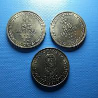 Portugal 3 Coins 25 Escudos Açores And Madeira - Münzen & Banknoten