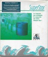 SuperStor 2.0, Et PC-Lock, Pour DOS 3.0 Et Windows 3 (1992, TBE+) - Autres