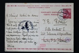 40816) BÖHMEN&MÄHREN Ganzsache P 3 Gestempelt Aus 1939 - Briefe U. Dokumente