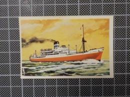 Cx 10 -3711) Cromo Portugal P/ Caderneta NAVIOS E NAVEGADORES #82 Marinha Mercante CITY OF DURBAN Ship Bateau - Trade Cards