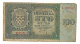 Croatia 100 Kuna 1941. VG. - Kroatië