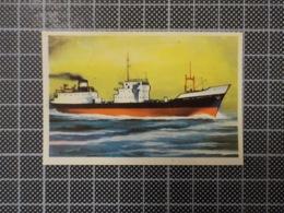 Cx 10 -3717) Cromo Portugal P/ Caderneta NAVIOS E NAVEGADORES #160 Cargo ESSO LE CAROUBIER Ship Bateau - Trade Cards