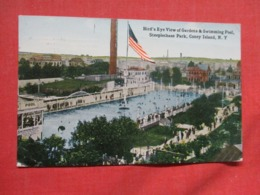 Gardens & Swimming Pool Steeplechase Park Coney Island  New York   Ref 3676 - Manhattan