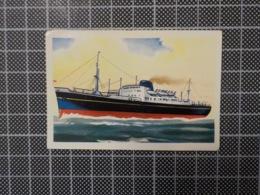 Cx 10 -3720) Cromo Portugal P/ Caderneta NAVIOS E NAVEGADORES #60 Marinha Mercante JOLIETTE Ship Bateau - Trade Cards