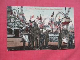Elephant Ride Luna Park Coney Island  New York   Ref 3676 - Manhattan