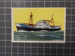 Cx 10 -3721) Cromo Portugal P/ Caderneta NAVIOS E NAVEGADORES #58 Marinha Mercante EL MANSOUR Ship Bateau - Trade Cards