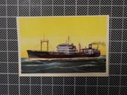 Cx 10 -3724) Cromo Portugal P/ Caderneta NAVIOS E NAVEGADORES #164 CARGO ESSO MARGARITA Ship Bateau - Trade Cards