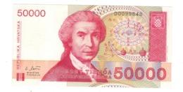 Croatia 50 000 Dinara 1993. P-26a, UNC. - Croatia