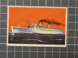 Cx 10 -3742) Cromo Portugal P/ Caderneta NAVIOS E NAVEGADORES #49 RAINHA FREDERICA (EX-ATLANTIS) Ship Bateau - Cromo