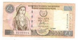 Cyprus 1 Pound 1997. F/VF. - Zypern