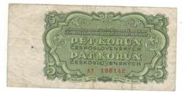 Czechoslovakia, 5 Korun 1961. F. - Czechoslovakia