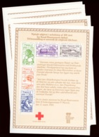 Greenland / Thule 1979 Reprint Sheets, Complete Set (kliche 1-8) RED CROSS - Thule