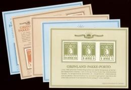 Greenland 1983-85 PAKKE-PORTO Reprint Sheets - Spoorwegzegels