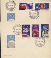 PHOTOGRAPHIE Premieres Transmissions Des Photos Du Cosmos Par Satellite MARINER 4  2 Envellopes FDC 1965 (Yv.2180/2184) - Photography
