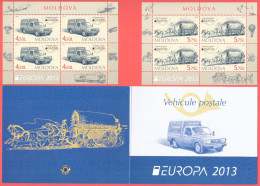 """Moldova 2013 """"Europa-CEPT 2013"""" """" Postal Transport - From The Van To The Car"""" Booklet Quality:100% - 2013"""