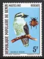 BENIN - 1982 KOOKABURRA 5F BIRD STAMP FINE MNH ** SG 861 - Benin - Dahomey (1960-...)