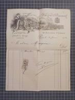 Cx 12) Facture A LA COUR DE DANEMARK FOURRURES CONFECTIONS Mode Paris 1912 - France